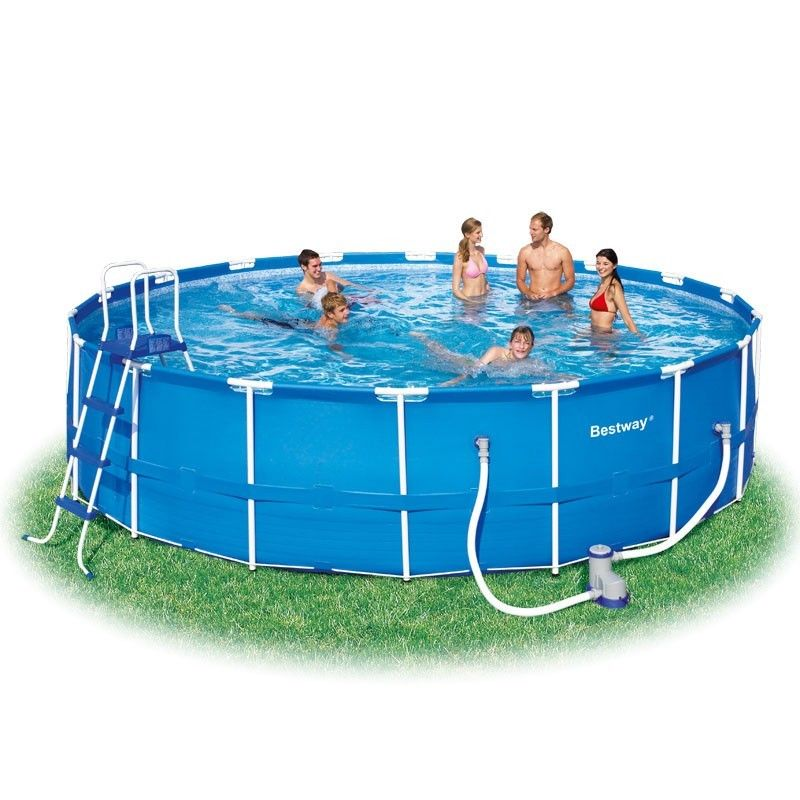 18ft x 48 steel framed pool bestway the outdoor toy for Garden pool accessories