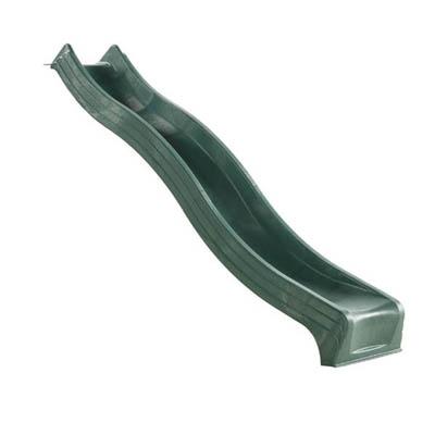 Green 3 Metre Polymer Slide (Mega heavy duty) - The Outdoor Toy ...