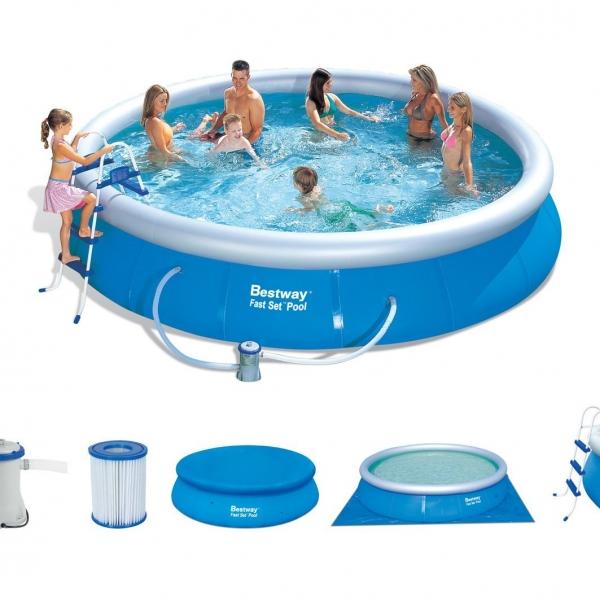 15ft fast set pool bestway the outdoor toy centre tp climbing frames jumpking trampolines. Black Bedroom Furniture Sets. Home Design Ideas