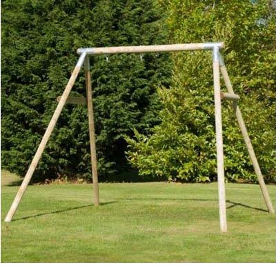 tp knightswood double round wood swing frame - Wooden Swing Frame