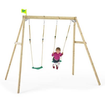 TP Forest Double Swing Frame - The Outdoor Toy Centre: TP Climbing ...