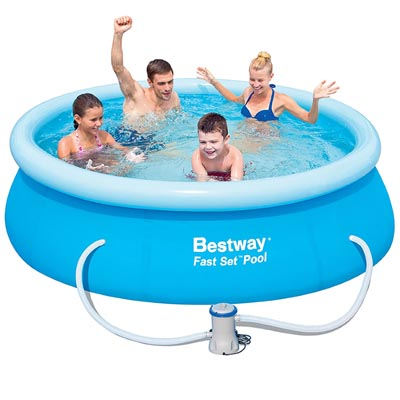 8ft Fast Set Pool With Filter Pump Bestway The Outdoor