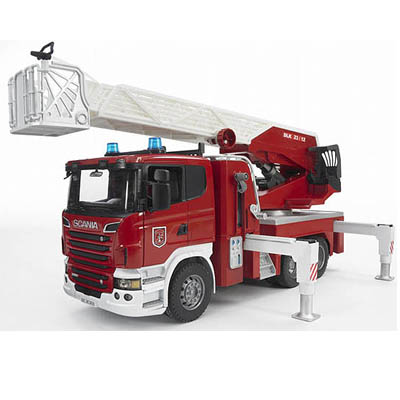 Bruder Scania R Series Fire Engine With Slewing Ladder