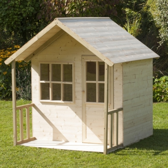 Tp Activity Toys Forest Cabin Playhouse With Verandah The Outdoor